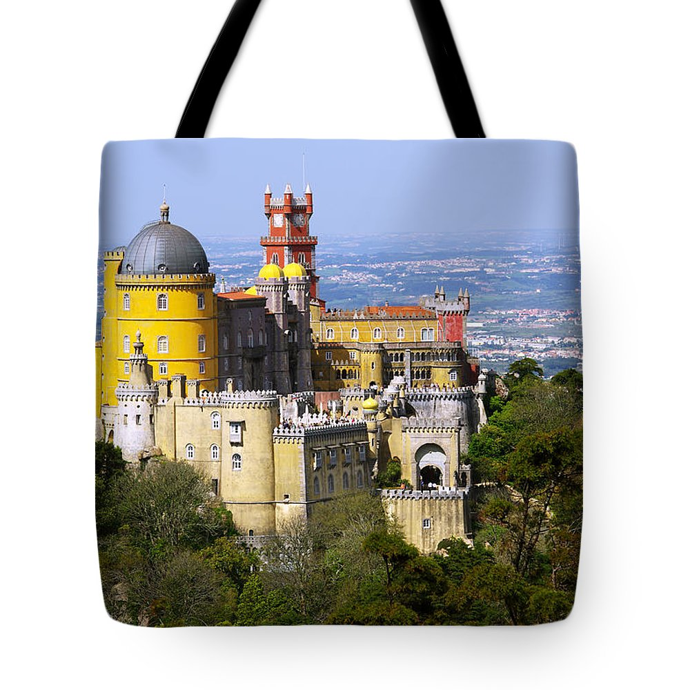 Arabian Tote Bag featuring the photograph Pena Palace by Carlos Caetano