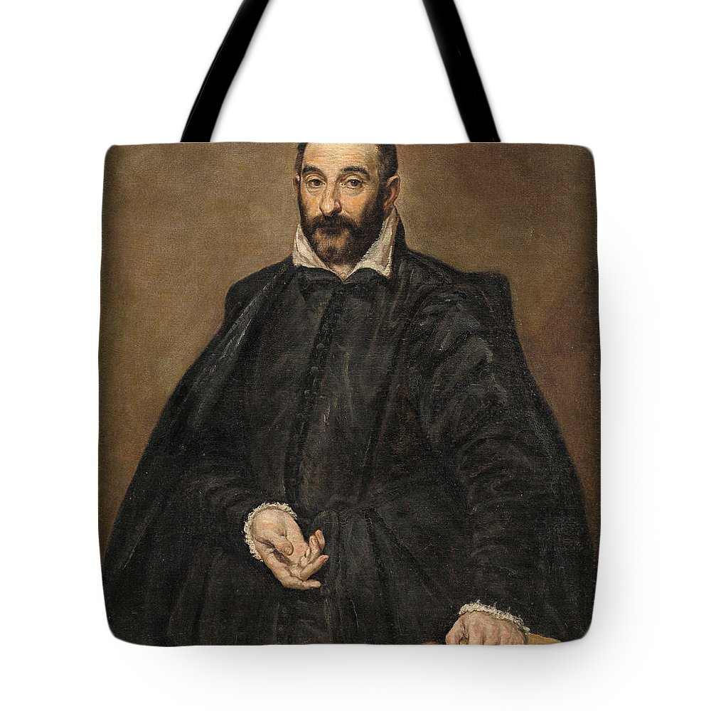 Beard Tote Bag featuring the painting Portrait Of A Man by El Greco