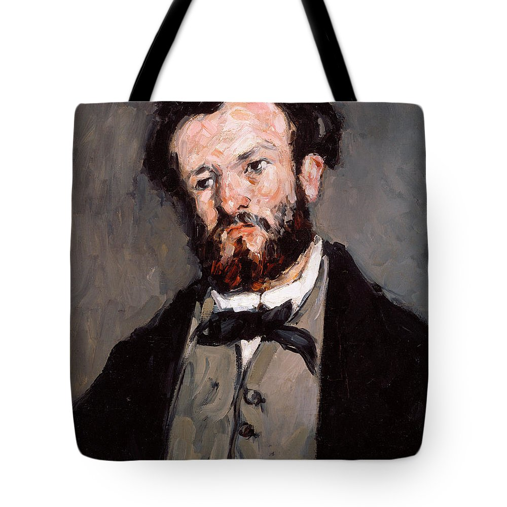 Portrait Of Anthony Valabregue Tote Bag featuring the painting Portrait Of Anthony Valabregue by Paul Cezanne