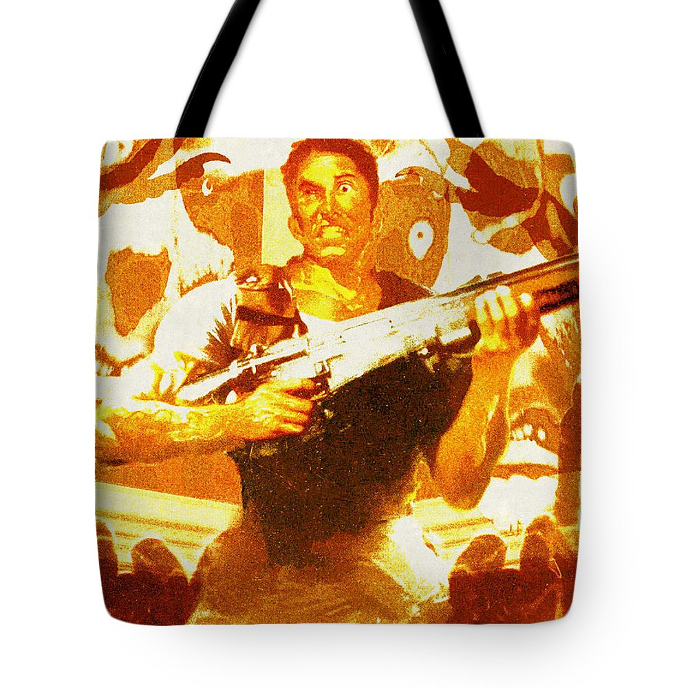 Resident Evil Tote Bag featuring the digital art Resident Evil by Lora Battle