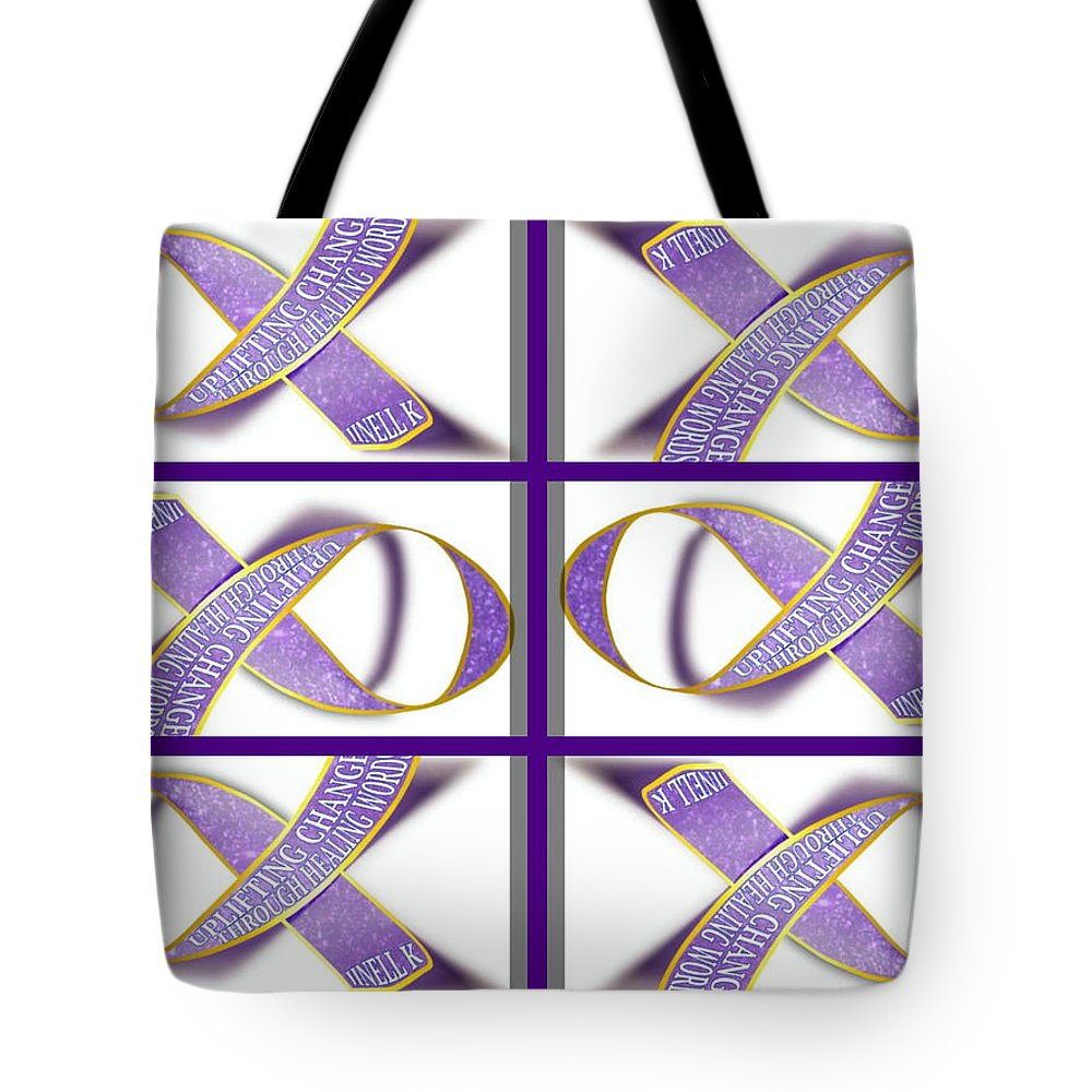 Tote Bag featuring the digital art ribbon of Change by Jinell K