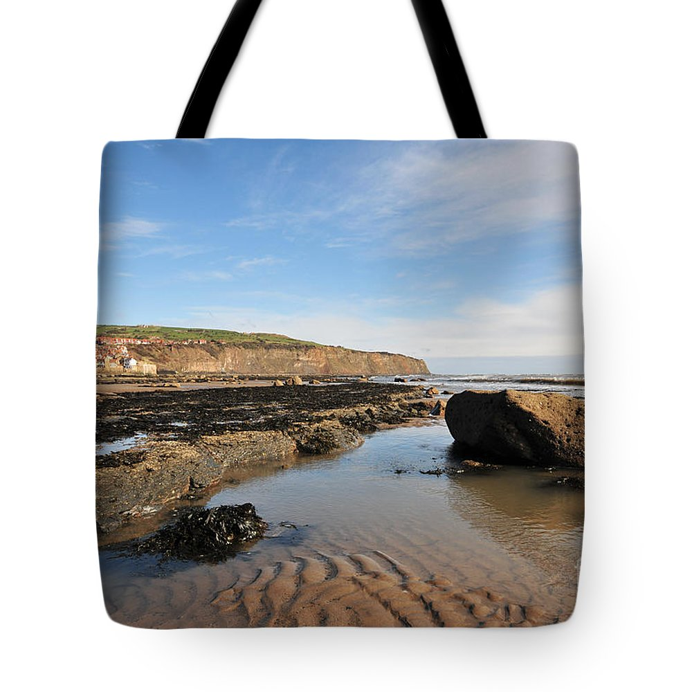 Robin Hoods Bay Tote Bag featuring the photograph Robin Hoods Bay by Smart Aviation