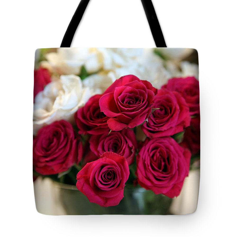 Rose Tote Bag featuring the photograph Roses by Amanda Barcon
