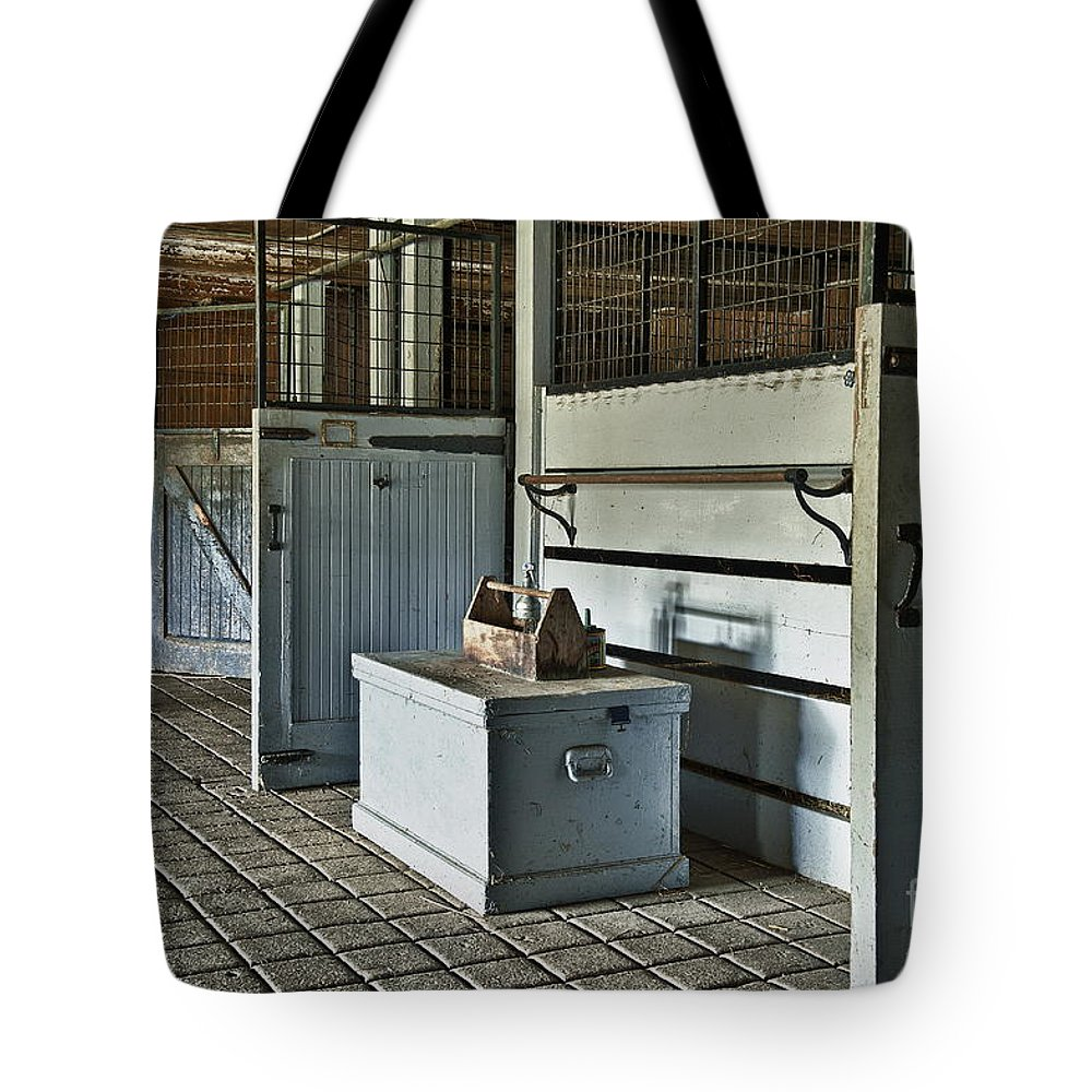 Chester County Tote Bag featuring the photograph Rustic Stable by John Greim