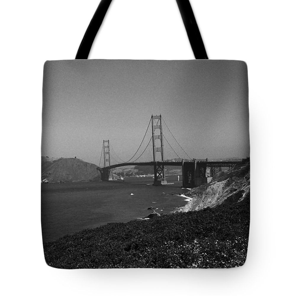 America Tote Bag featuring the photograph San Francisco - Golden Gate Bridge by Frank Romeo