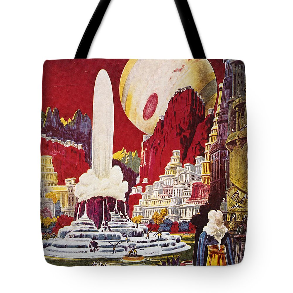 1941 Tote Bag featuring the photograph Science Fiction Magazine by Granger