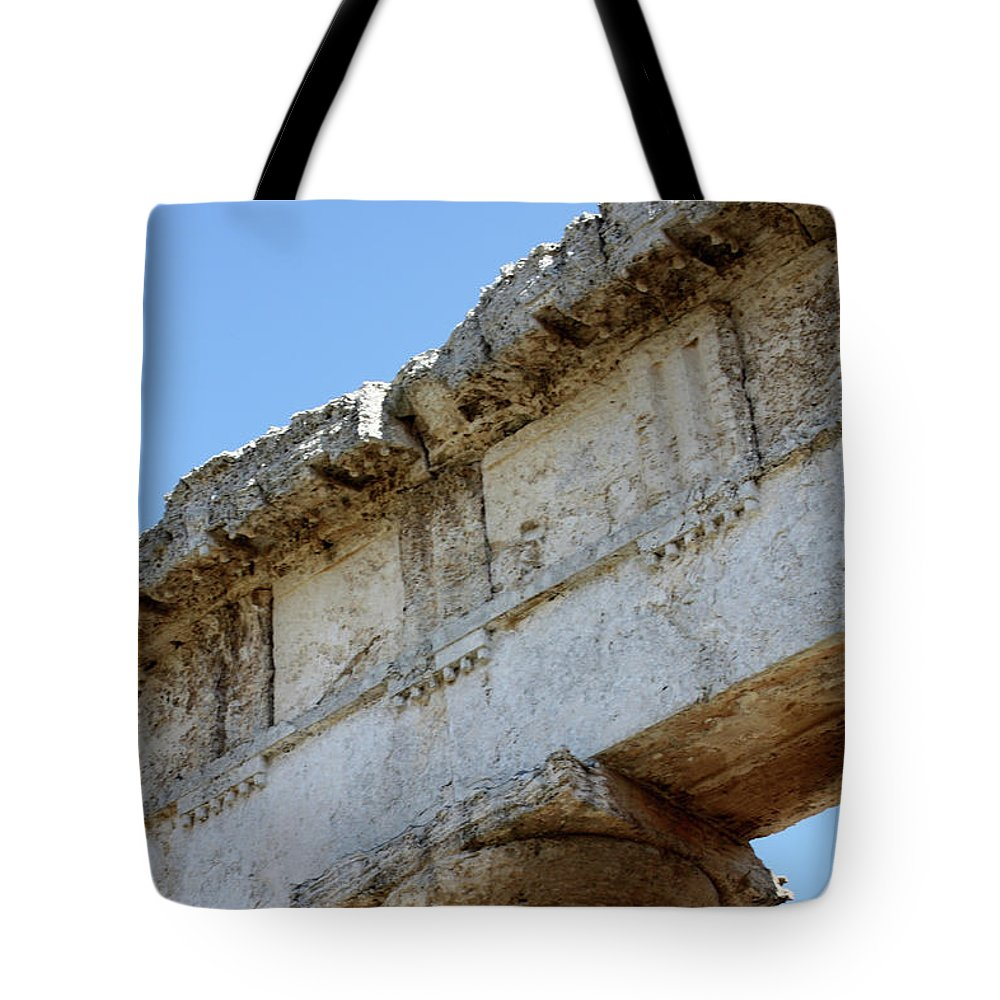 Tote Bag featuring the photograph Segesta Greek Temple In Sicily, Italy by Paolo Modena