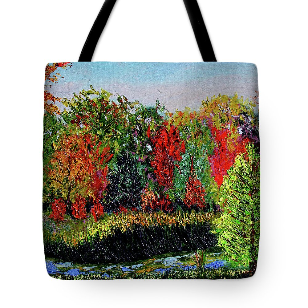 Plein Air Tote Bag featuring the painting Sewp 10 10 by Stan Hamilton