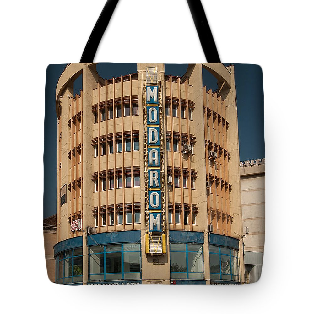 Brasov Tote Bag featuring the photograph Socialistic Architecture by Christian Hallweger