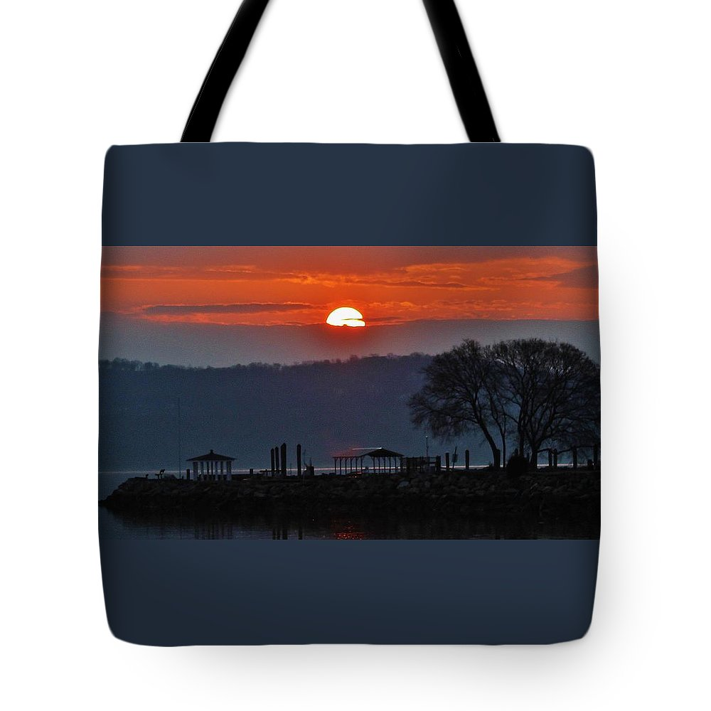 Hudson Valley Landscapes Tote Bag featuring the photograph Stony Point Sunrise by Thomas McGuire