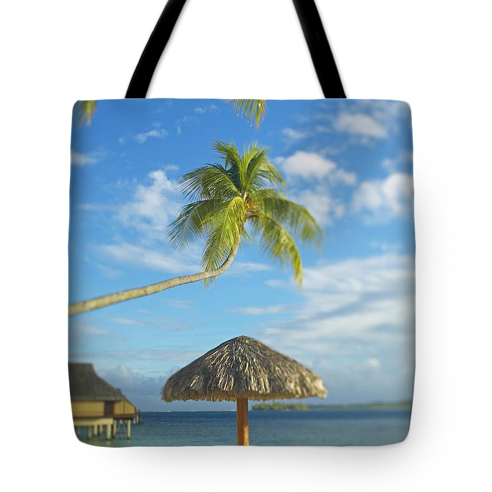 Beach Tote Bag featuring the photograph Tahiti, Bora Bora by Kyle Rothenborg - Printscapes