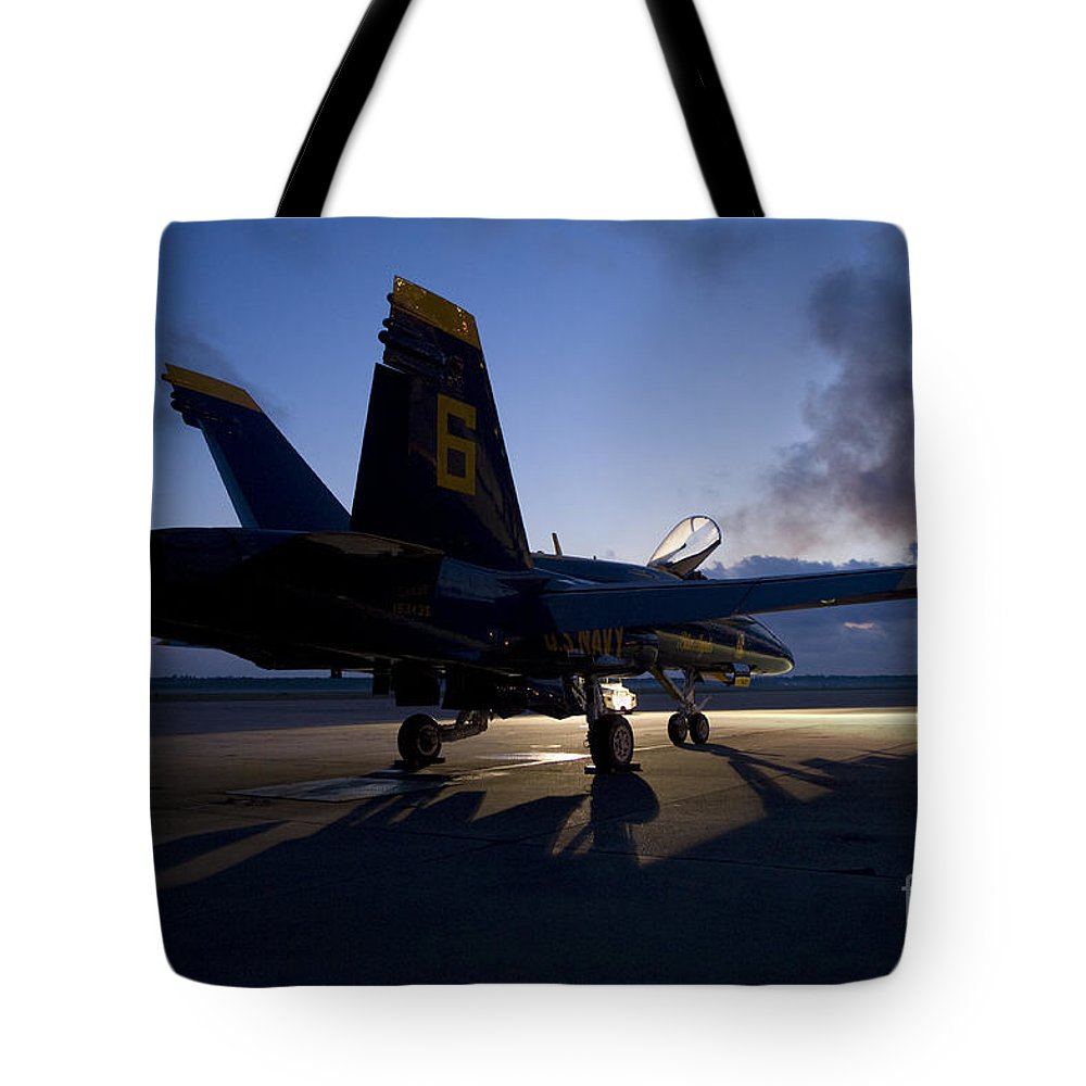 Blue Angels Tote Bag featuring the painting the Blue Angels by Celestial Images