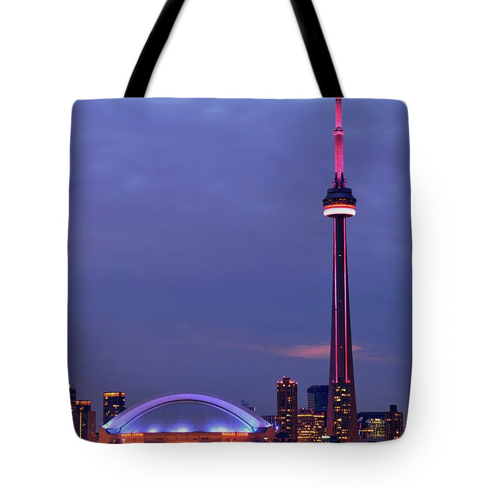 Toronto Tote Bag featuring the photograph The City Of Toronto by Oleksiy Maksymenko