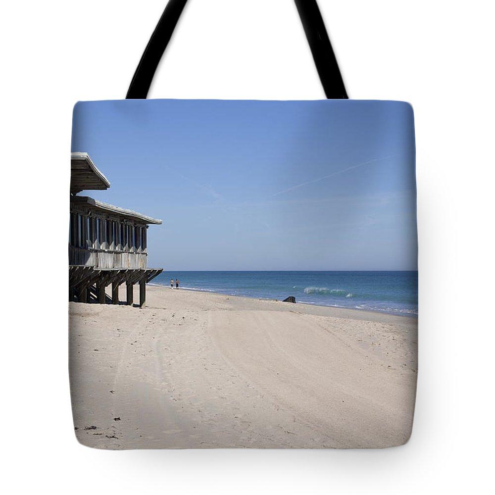 Florida Tote Bag featuring the photograph The Ocean Grill At Vero Beach In Florida by Allan Hughes