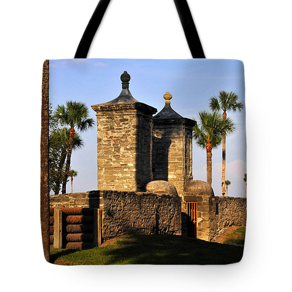 Fine Art Photography Tote Bag featuring the photograph The Old City Gates by David Lee Thompson