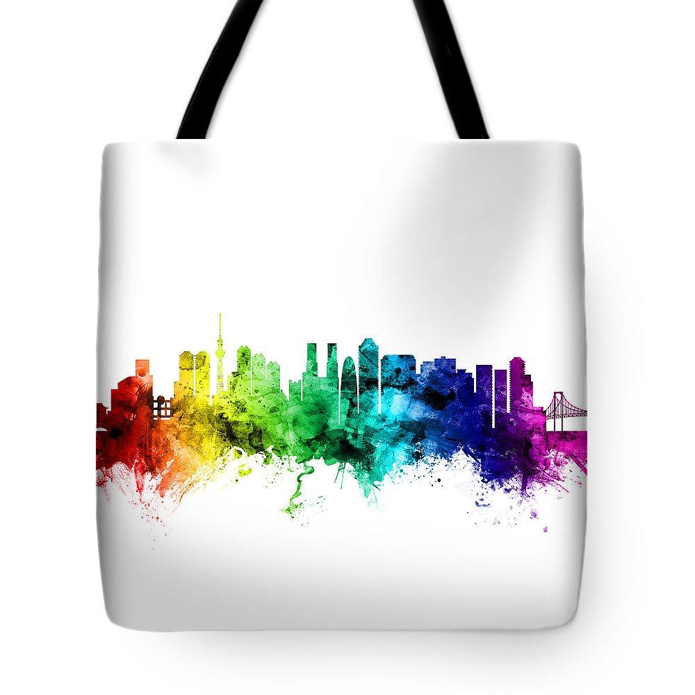 Tokyo Skyline Tote Bags