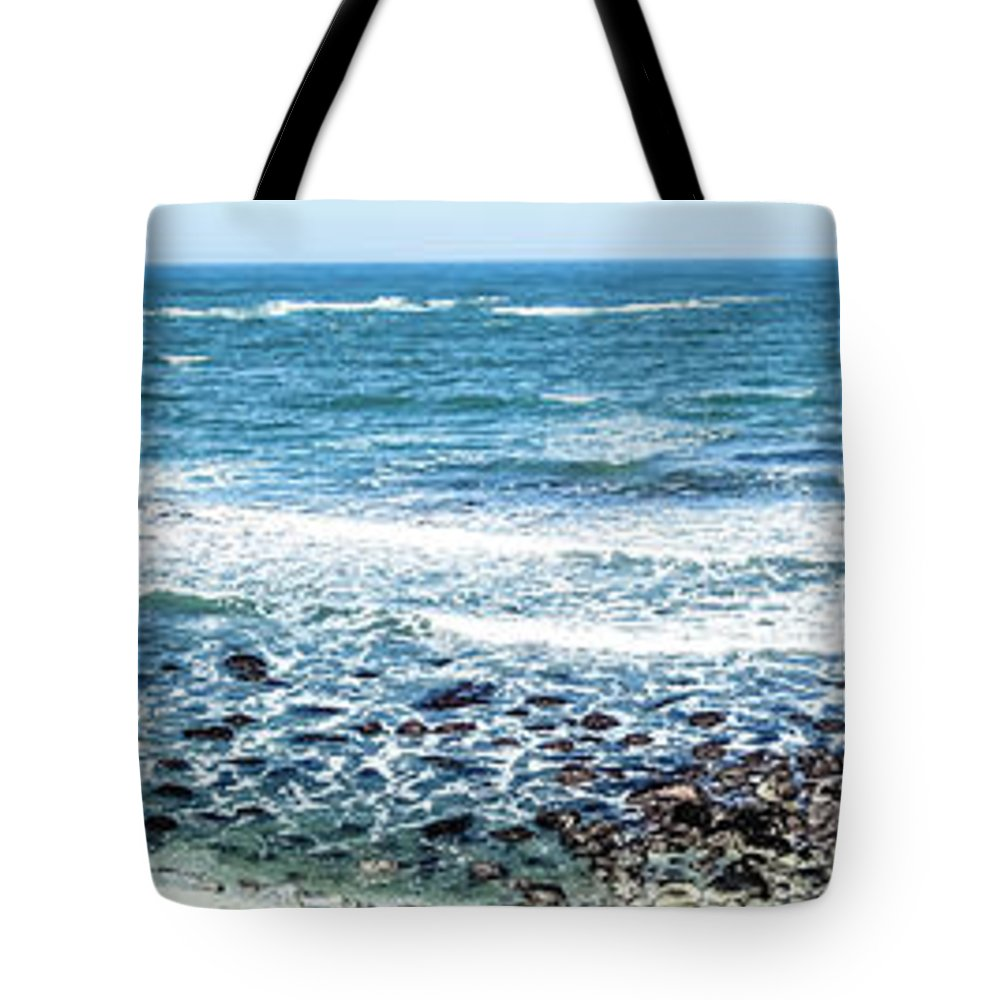 Landscape Tote Bag featuring the photograph Usa California Pacific Ocean Coast Shoreline by Alex Grichenko