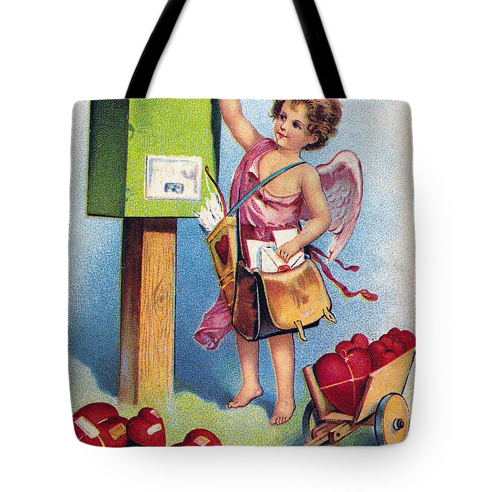 1909 Tote Bag featuring the photograph Valentines Day Card by Granger