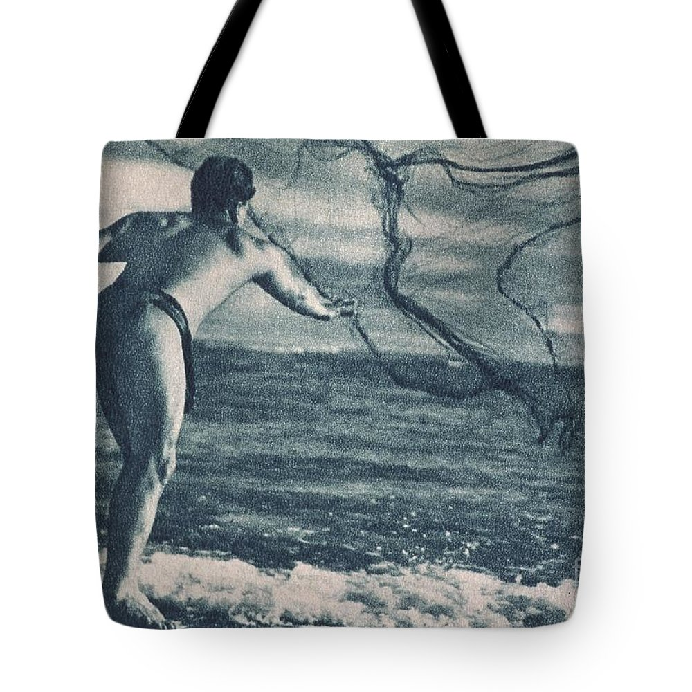 1938 Tote Bag featuring the painting Vintage Hawaiian Art by Hawaiian Legacy Archive - Printscapes