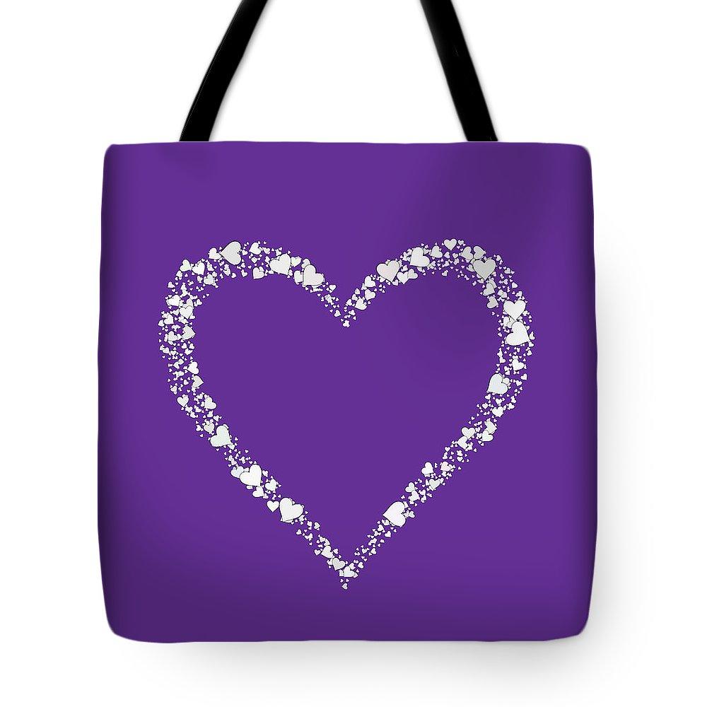 Heart Tote Bag featuring the digital art Love Heart Valentine Shape by Miroslav Nemecek