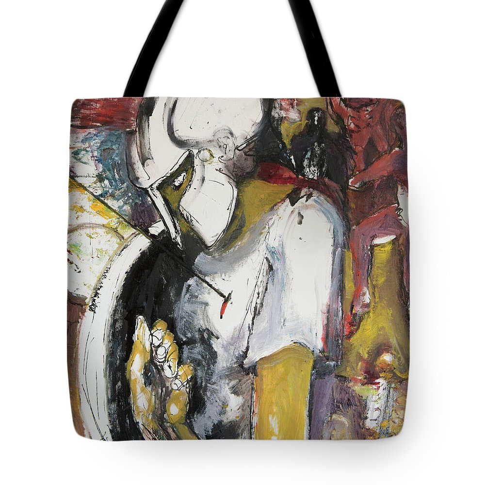 300 Tote Bag featuring the painting 300 Outnumbered by Craig Newland
