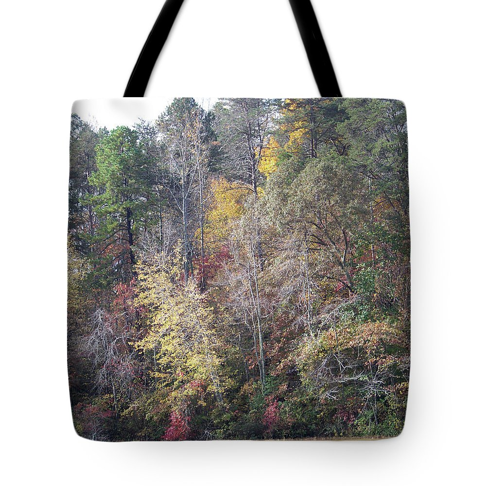 Lake Tote Bag featuring the photograph 3004-fall 2011 by Martha Abell