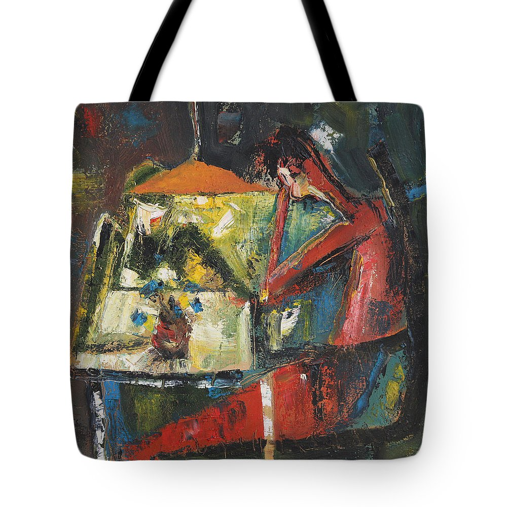 Dimitar Tote Bag featuring the painting 32 by Dimitar Manolov