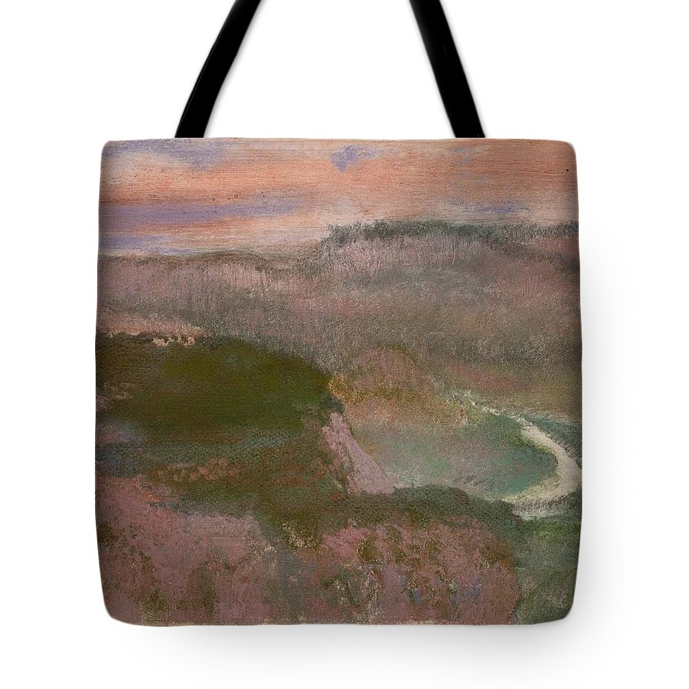 Landscape 1892 Edgar Degas (french Tote Bag featuring the painting Landscape by MotionAge Designs