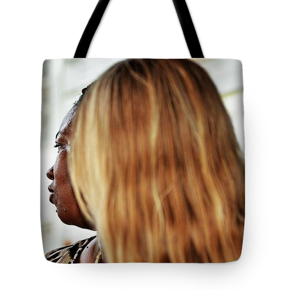 Tote Bag featuring the photograph Roatan People by Gianni Bussu