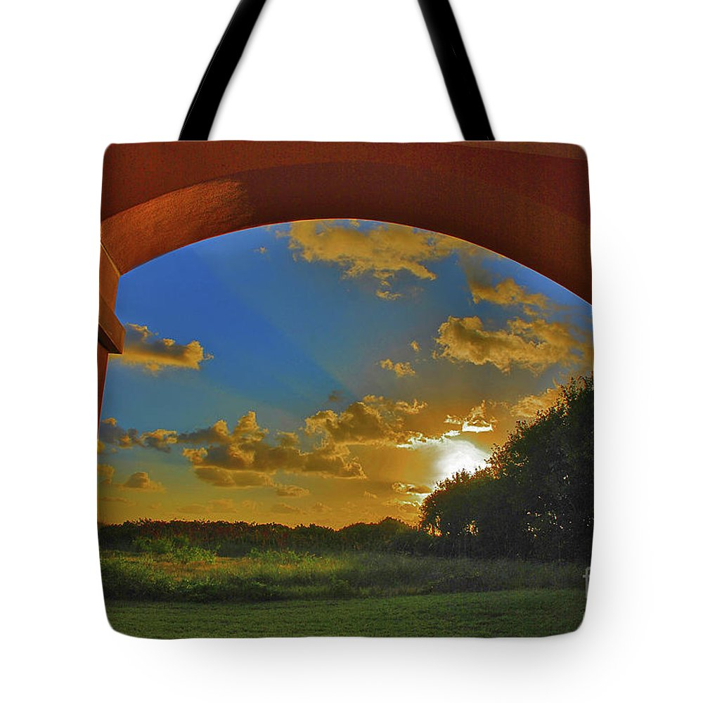 Sunrise Tote Bag featuring the photograph 33- Window To Paradise by Joseph Keane