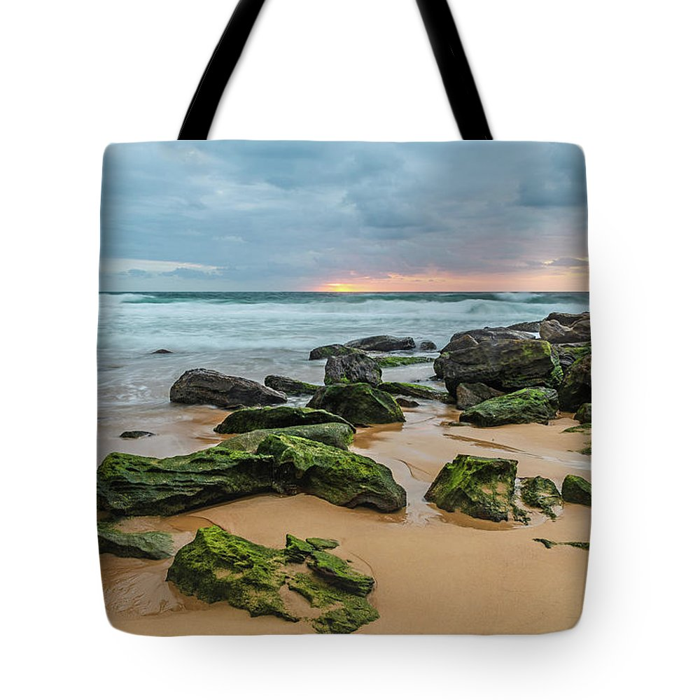 Killcare Tote Bag featuring the photograph Dawn Seascape by Merrillie Redden