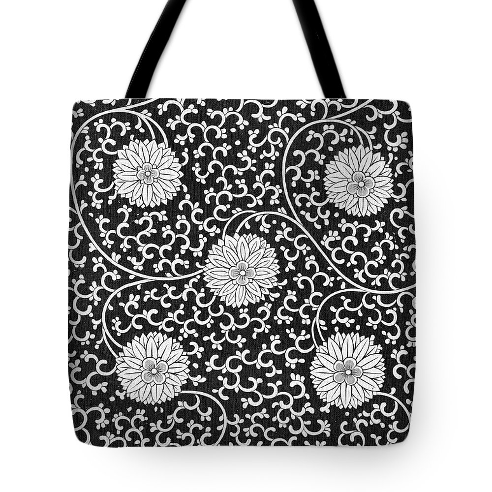 Black And White Bohemian Art Floral Pattern Art Prints Tote Bag