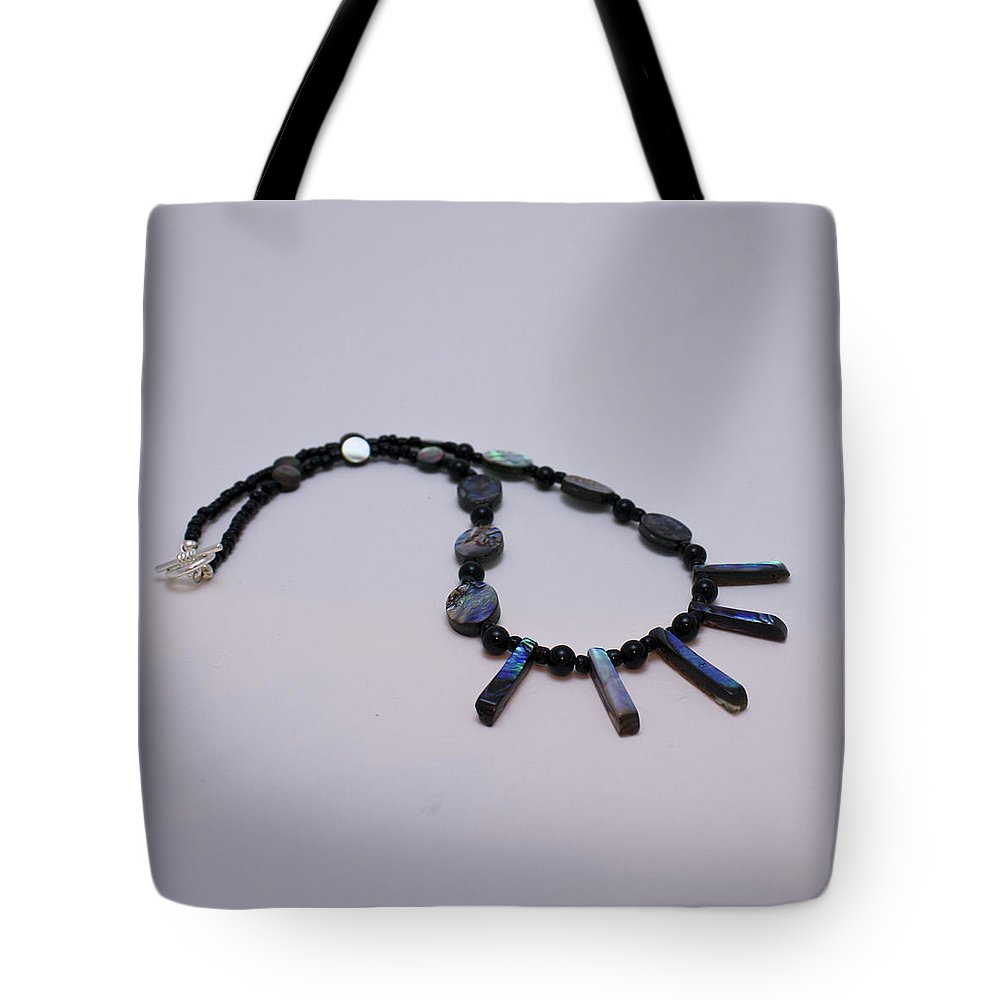 Jewelry Tote Bag featuring the jewelry 3513 Abalone Shell Necklace by Teresa Mucha