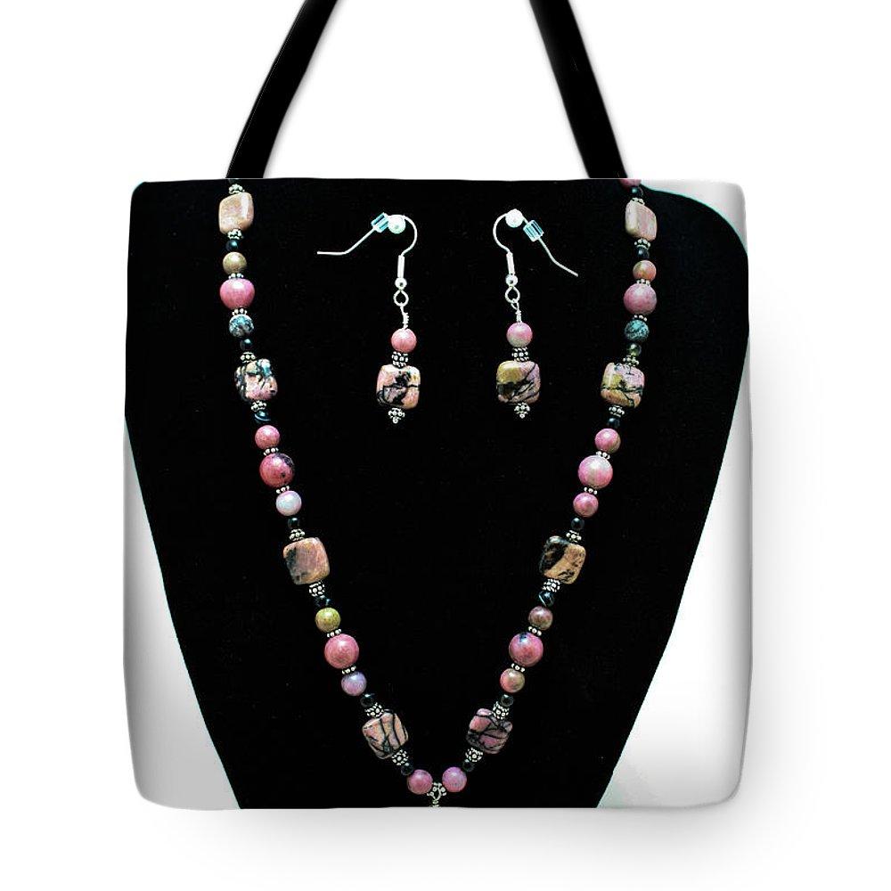 Original Tote Bag featuring the jewelry 3571 Rhodonite Set by Teresa Mucha
