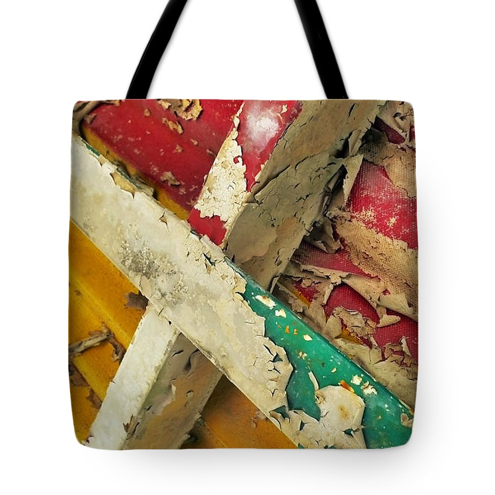 Abstract Tote Bag featuring the photograph 377 At 41 Series 1 by Skip Hunt
