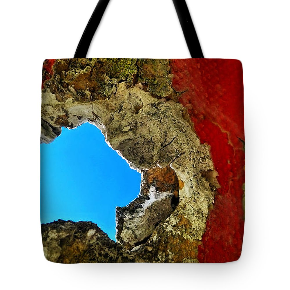 Abstract Tote Bag featuring the photograph 377 At 41 Series 4 by Skip Hunt