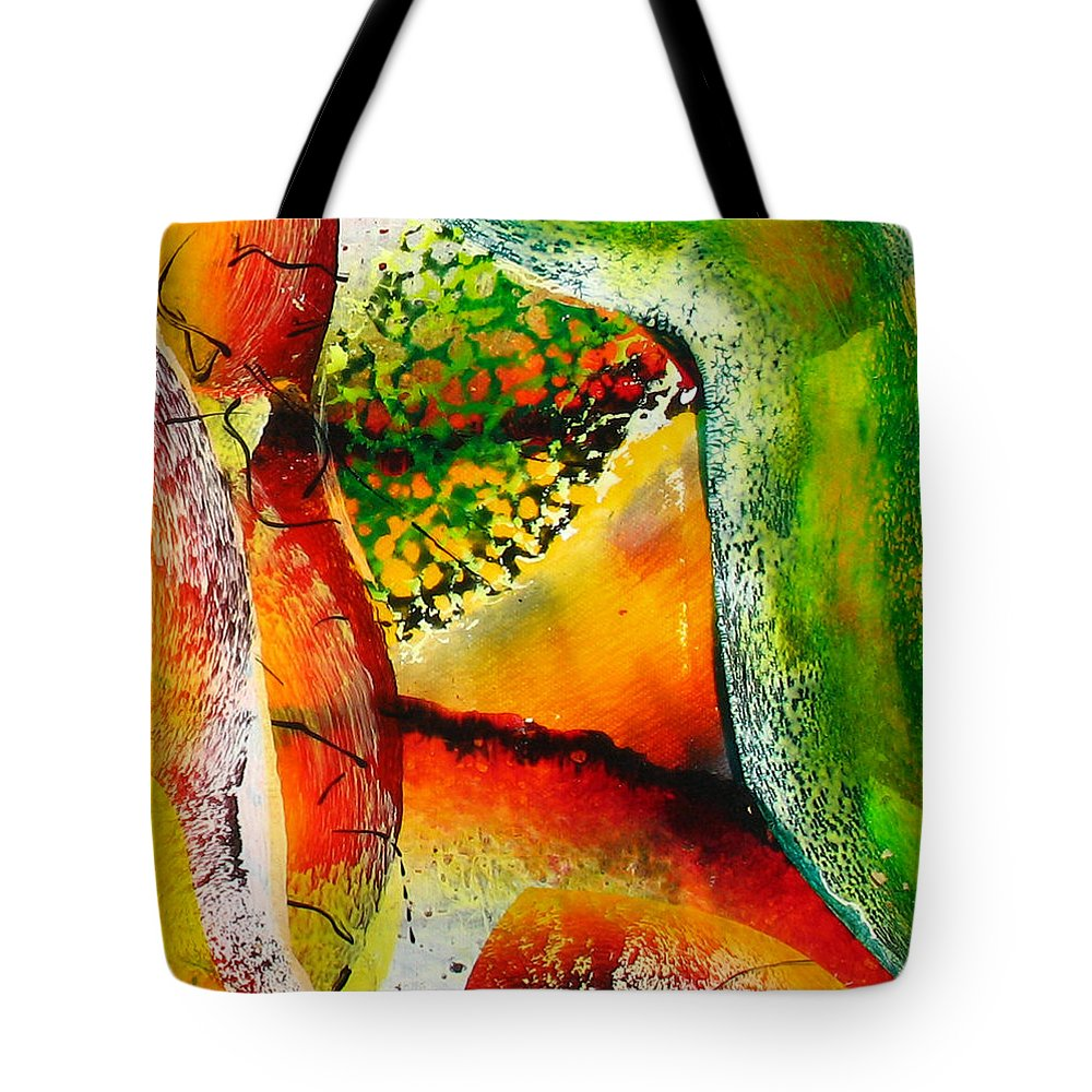 Tote Bag featuring the painting Abstract by Jay Bonifield