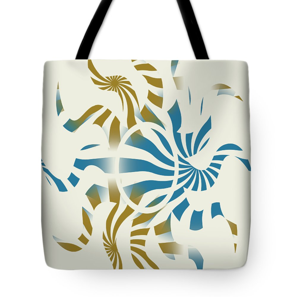 Abstract Tote Bag featuring the mixed media 3d Spiral Art by Christina Rollo
