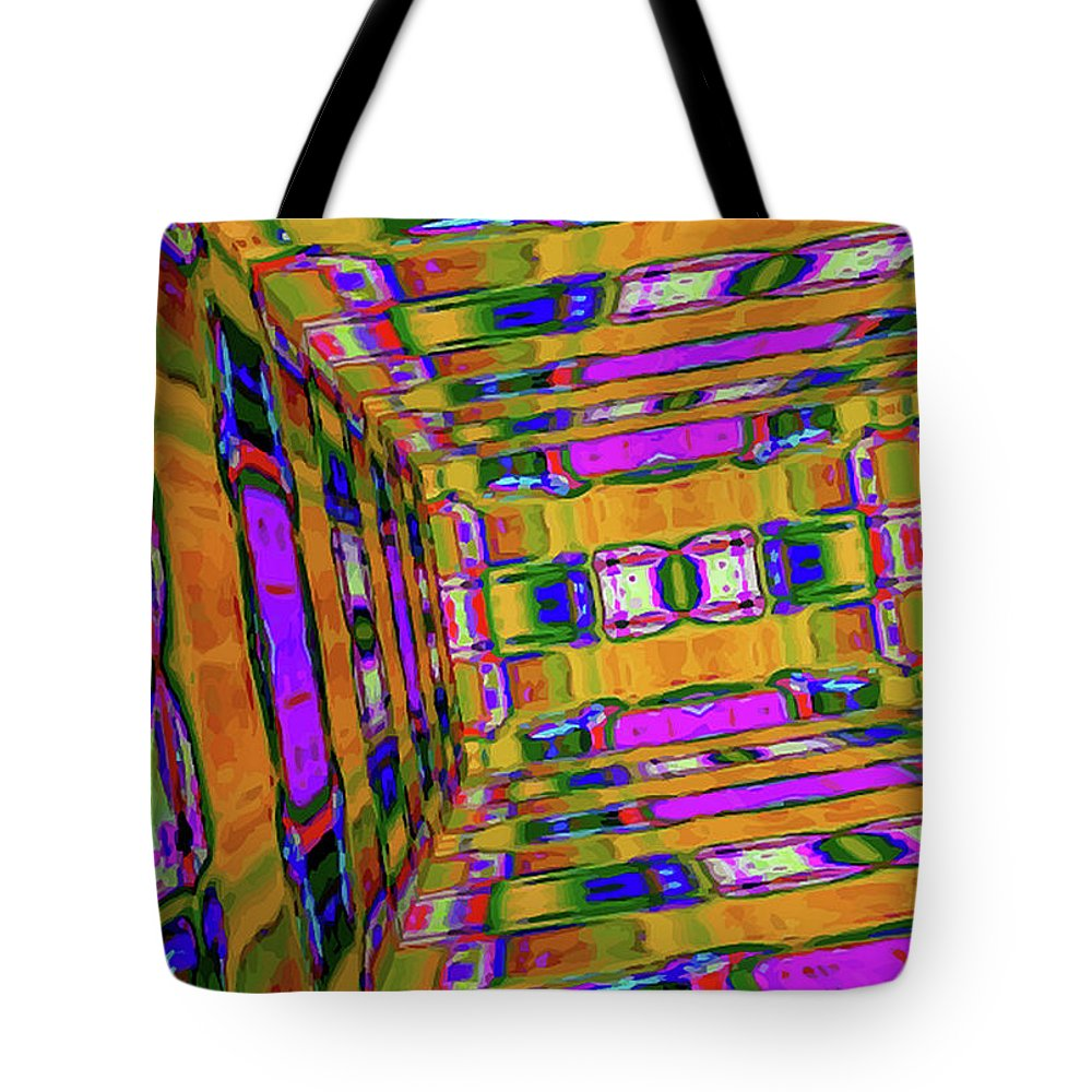 3d Print Tote Bag featuring the digital art 3d-unlimited Spectrum by Yamy Morrell