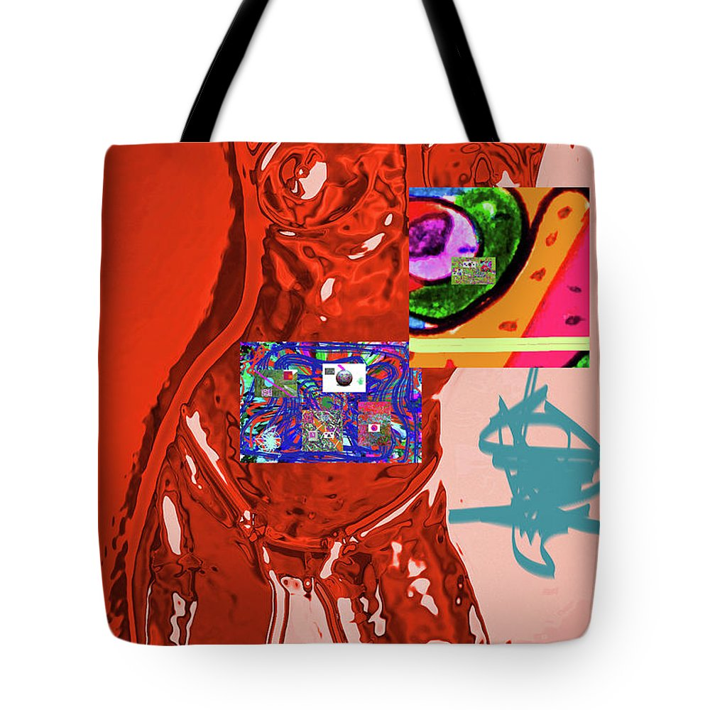 Walter Paul Bebirian Tote Bag featuring the digital art 4-1-2015fa by Walter Paul Bebirian