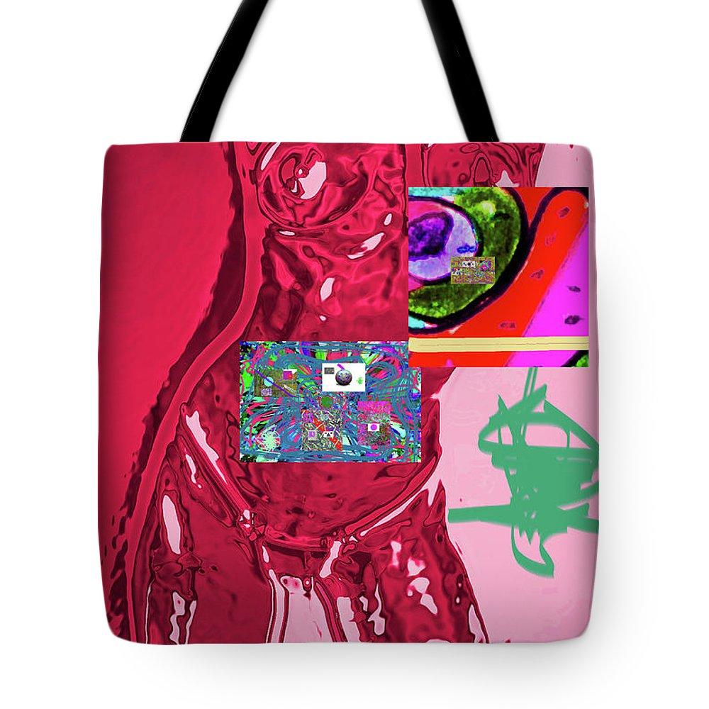 Walter Paul Bebirian Tote Bag featuring the digital art 4-1-2015fabcd by Walter Paul Bebirian