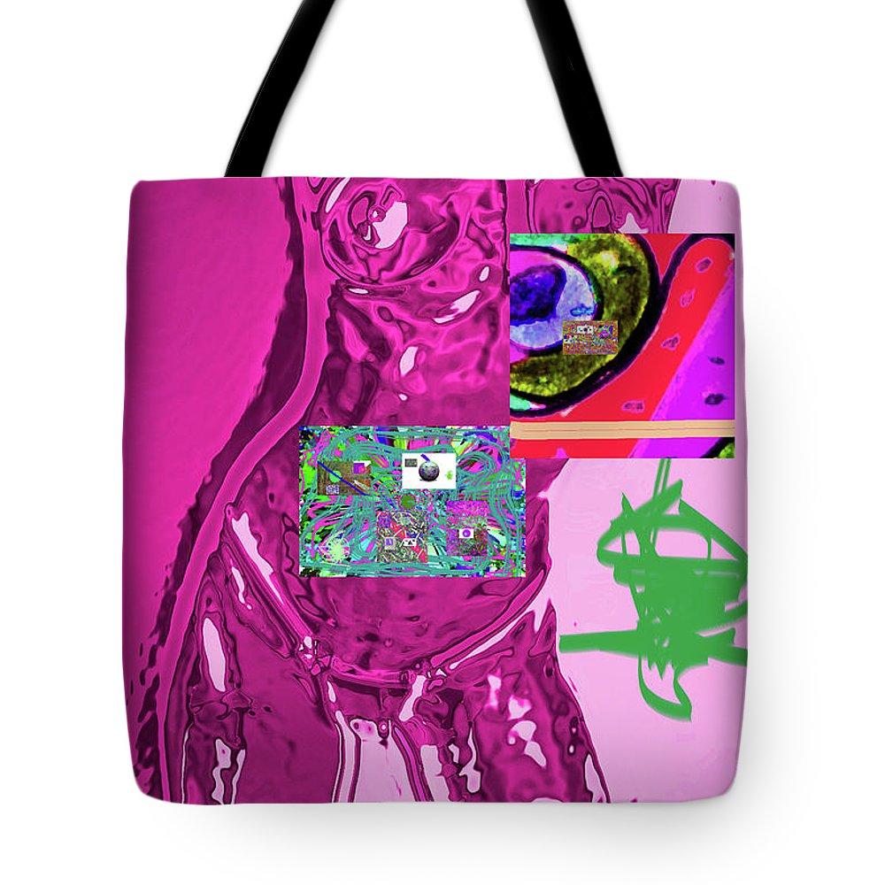 Walter Paul Bebirian Tote Bag featuring the digital art 4-1-2015fabcdef by Walter Paul Bebirian