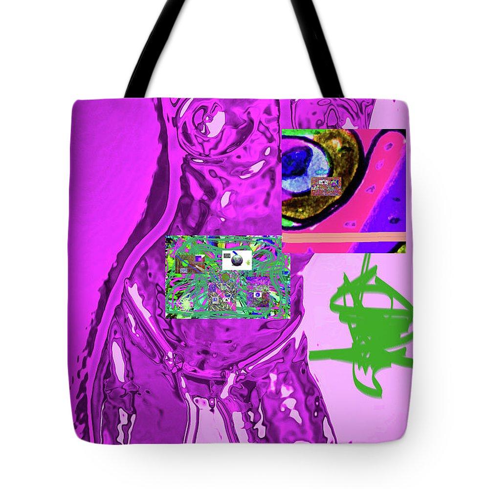 Walter Paul Bebirian Tote Bag featuring the digital art 4-1-2015fabcdefgh by Walter Paul Bebirian