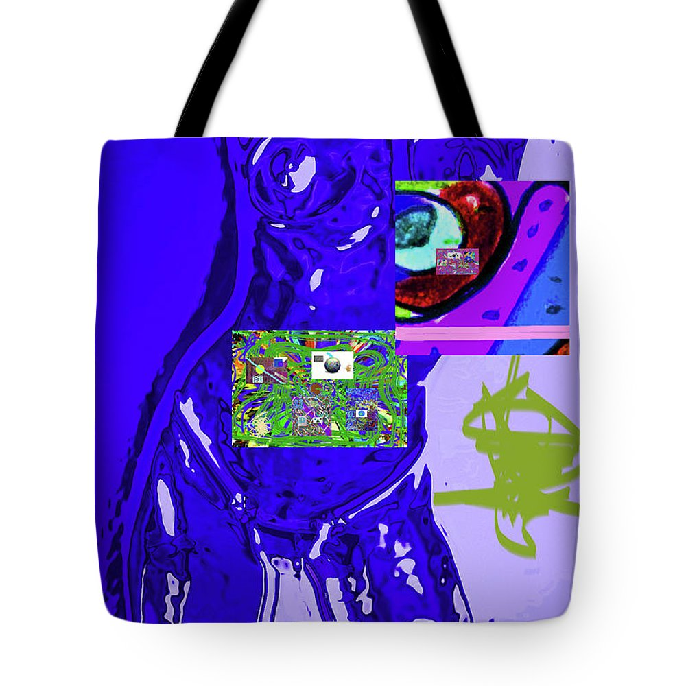 Walter Paul Bebirian Tote Bag featuring the digital art 4-1-2015fabcdefghijklm by Walter Paul Bebirian