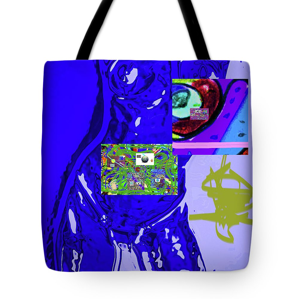 Walter Paul Bebirian Tote Bag featuring the digital art 4-1-2015fabcdefghijklmn by Walter Paul Bebirian