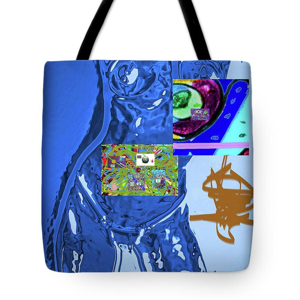Walter Paul Bebirian Tote Bag featuring the digital art 4-1-2015fabcdefghijklmnopq by Walter Paul Bebirian