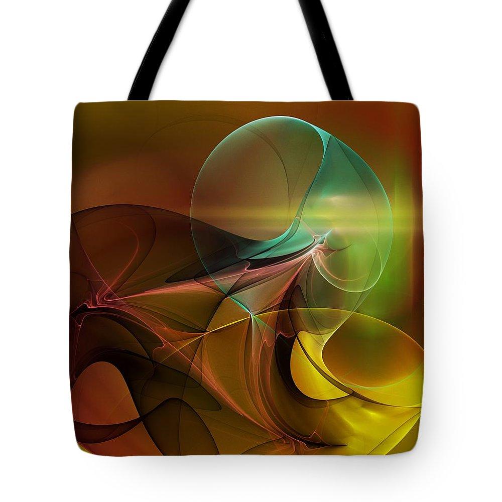 Digital Painting Tote Bag featuring the digital art 4-3-10aa by David Lane