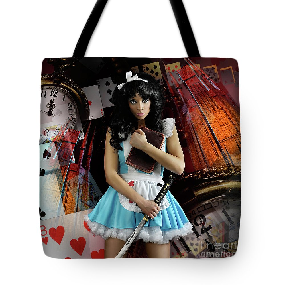 Alice Tote Bag featuring the photograph Alice In Wonderland by Oleksiy Maksymenko