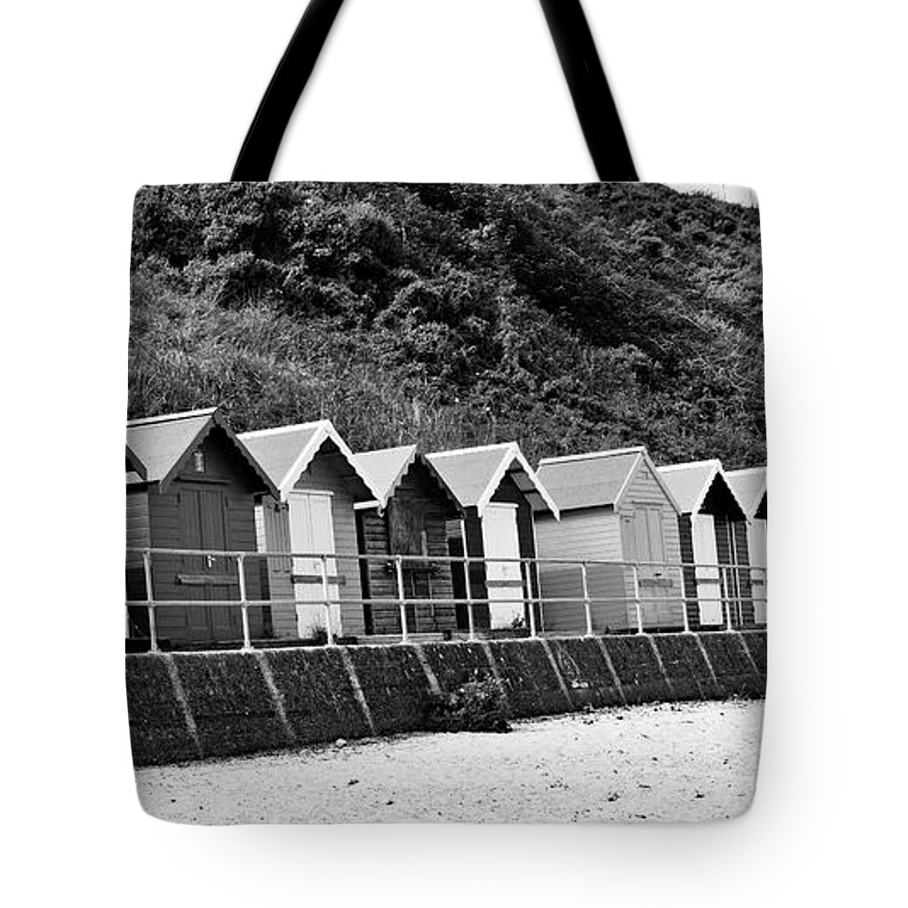 Beach Huts Tote Bag featuring the photograph Beach Huts by Ed James