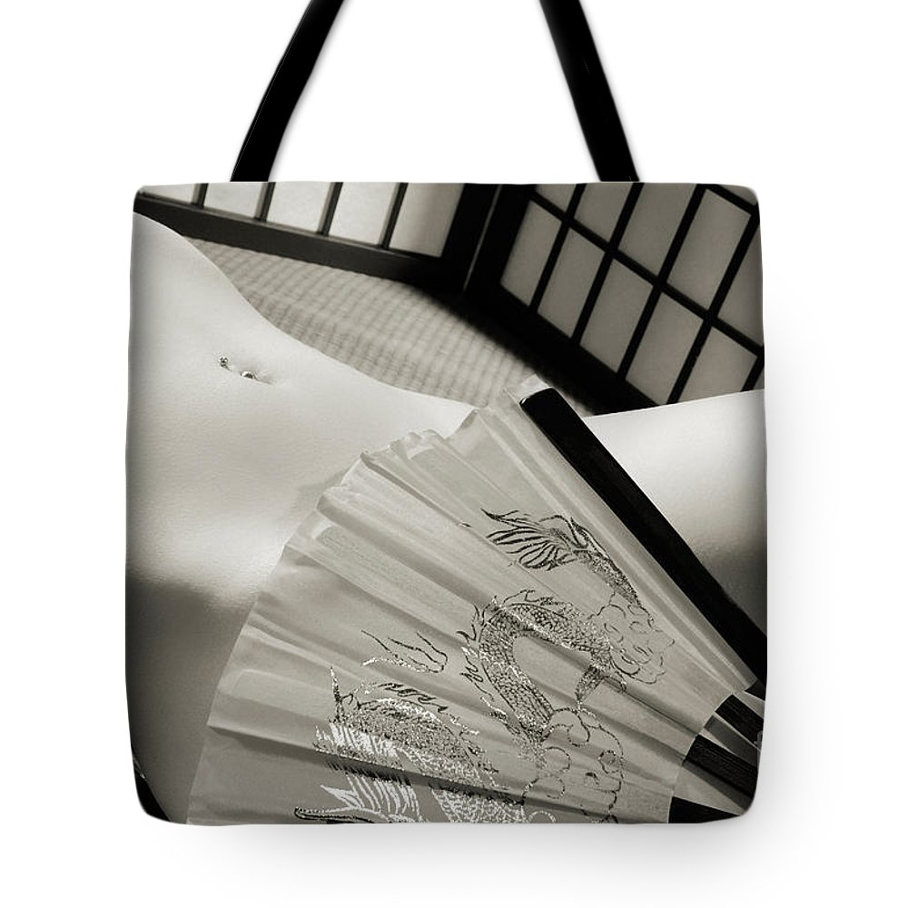Nude Tote Bag featuring the photograph Beautiful Naked Woman by Oleksiy Maksymenko